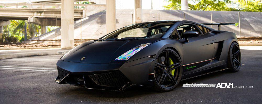 Matte Black Lamborghini Gallardo Lp570 Twin Turbo With Adv