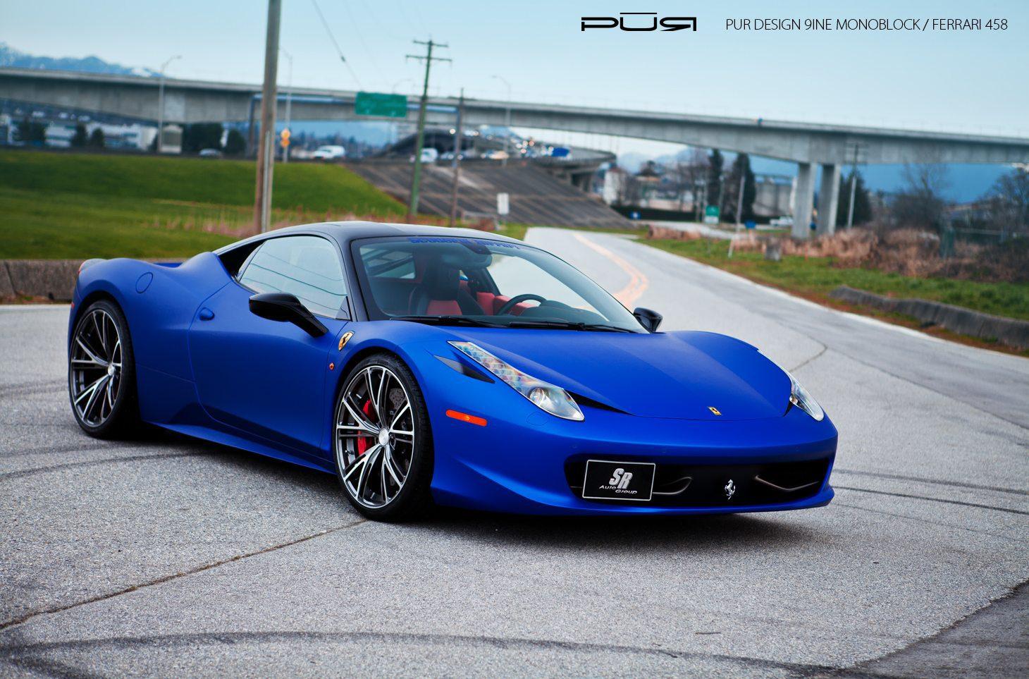 blue ferrari wallpaper matte blue ferrari 458 italia - Ferrari 458 Blue Wallpaper