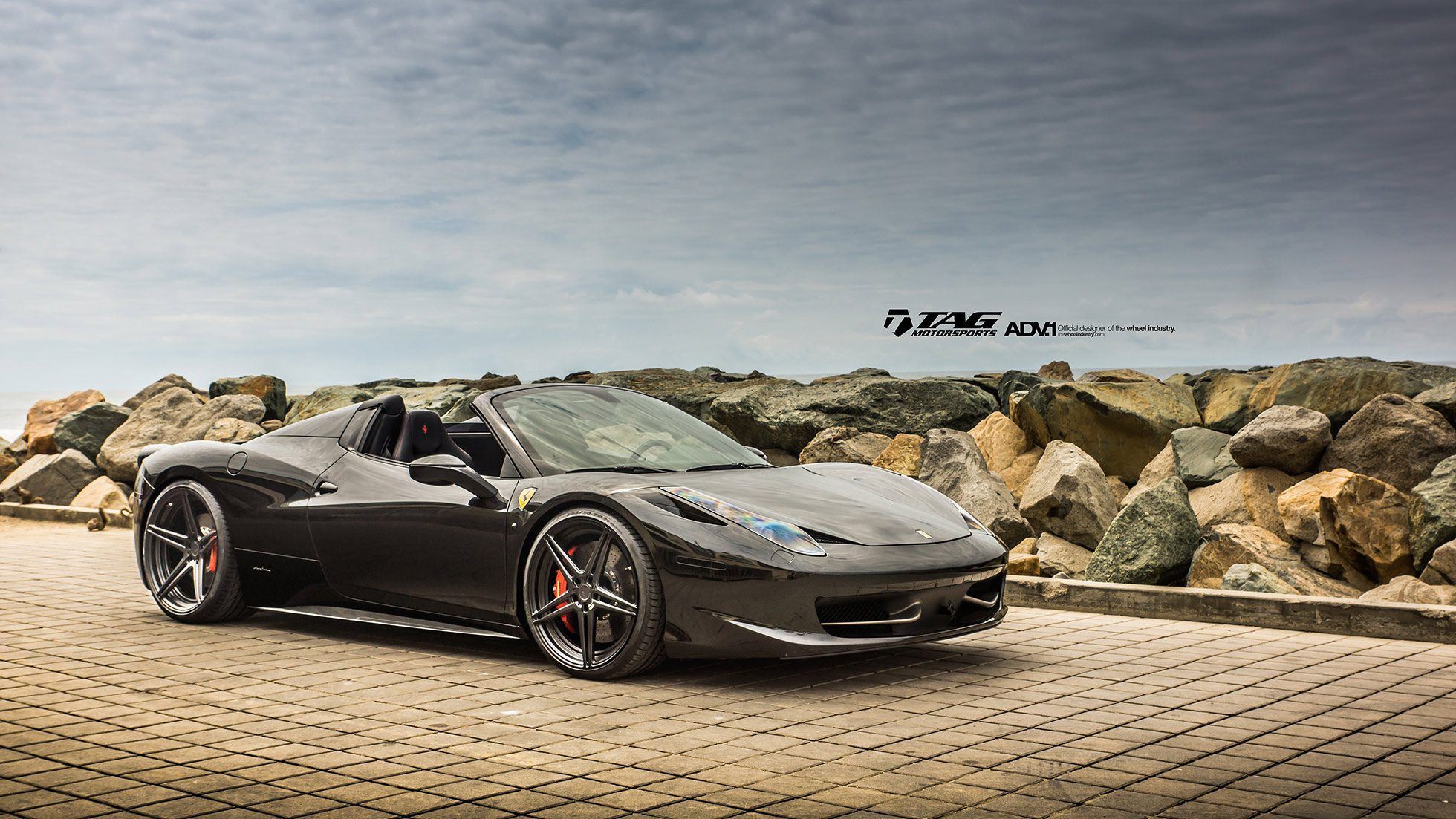ferrari 458 italia spider on adv 1 wheels by tag motorsports. Black Bedroom Furniture Sets. Home Design Ideas